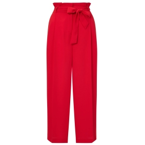 Undated Handout Photo of F&F Red Crop Trousers, £16, available from Tesco. See PA Feature FASHION Workwear. Picture credit should read: PA Photo/Handout. WARNING: This picture must only be used to accompany PA Feature FASHION Workwear. WARNING: This picture must only be used with the full product information as stated above.